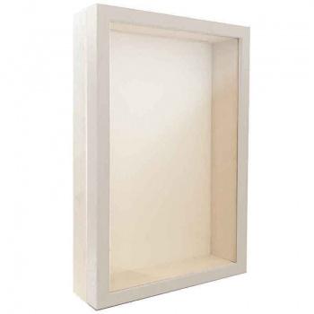 Unibox Bilderrahmen 30x40 cm | weiß-weiß | Normalglas