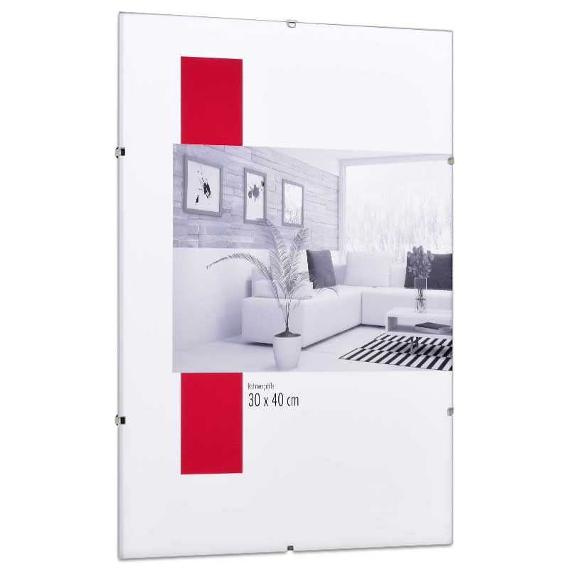 rahmenloser bildhalter effekt. Black Bedroom Furniture Sets. Home Design Ideas